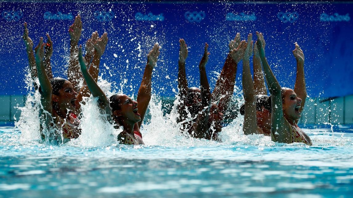 Olimpiadi nuoto sincronizzato che spettacolo in piscina corriere dello sport - Piscina olimpiadi ...