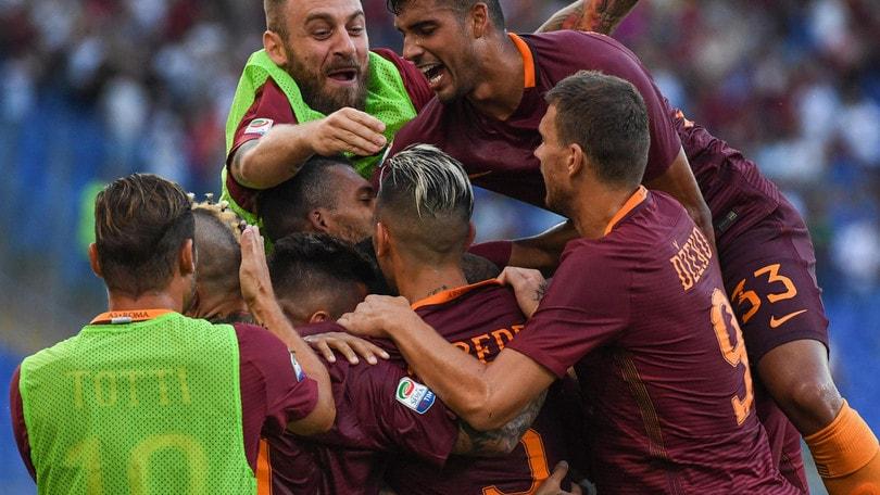 Serie A, Roma-Udinese 4-0: Perotti, Dzeko, Salah, i giallorossi partono bene