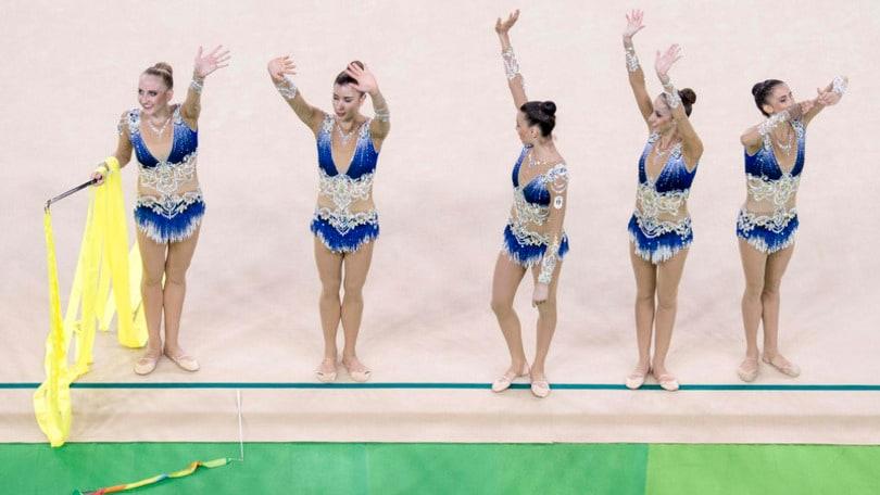 Rio2016: Ginnastica ritmica. Farfalle ai piedi del podio