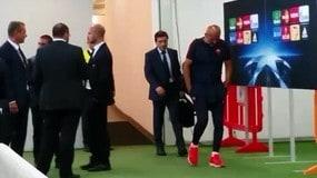 Champions Roma: Spalletti affranto, Sabatini lo consola