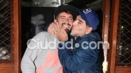 Maradona, ecco le foto della pace con il figlio Diego jr