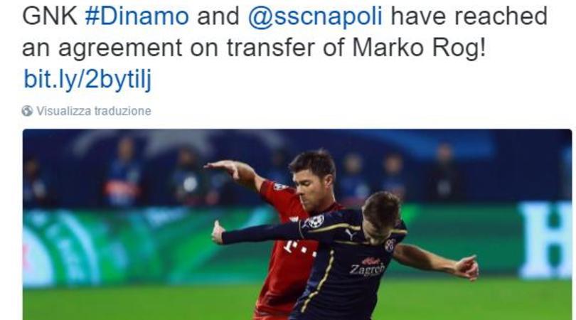 Calciomercato, ufficiale Rog al Napoli: «Vado in un grande club»