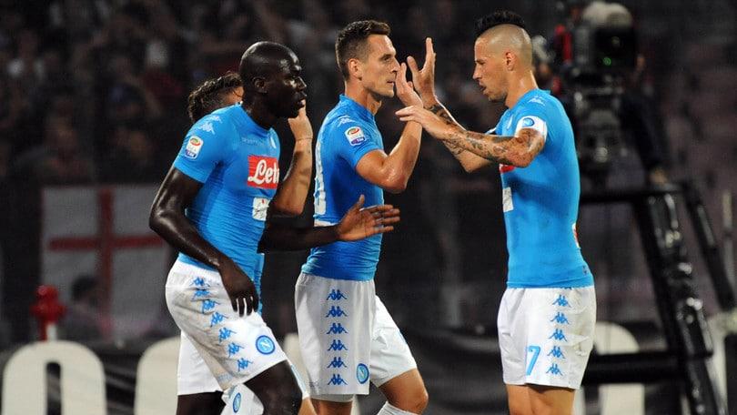 Serie A, Napoli-Milan 4-2. Milik show, risolve Callejon