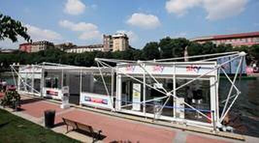Lo spazio Sky in Darsena a Milano diventa lo studio di Sky Sport24 HD