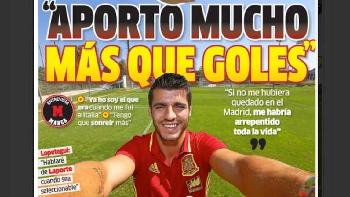 Morata: «Buffon? Mai visto un portiere e capitano così»