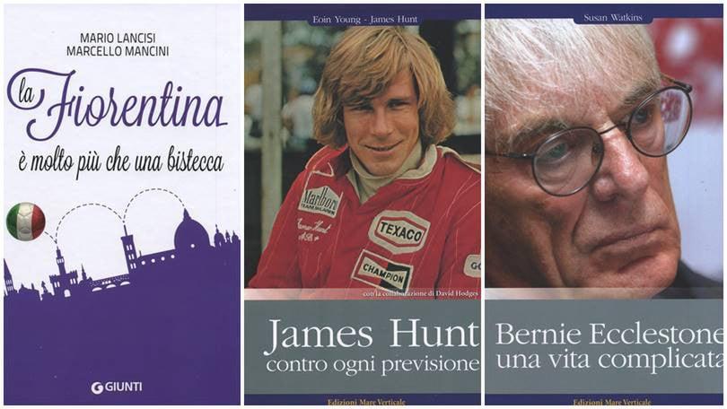 Il romanzo della Fiorentina e due libri sulla Formula 1