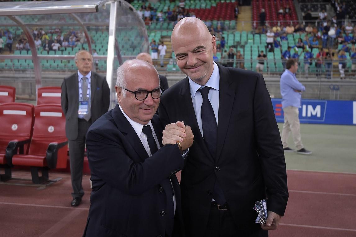 Italia-Francia, i vertici del calcio sugli spalti