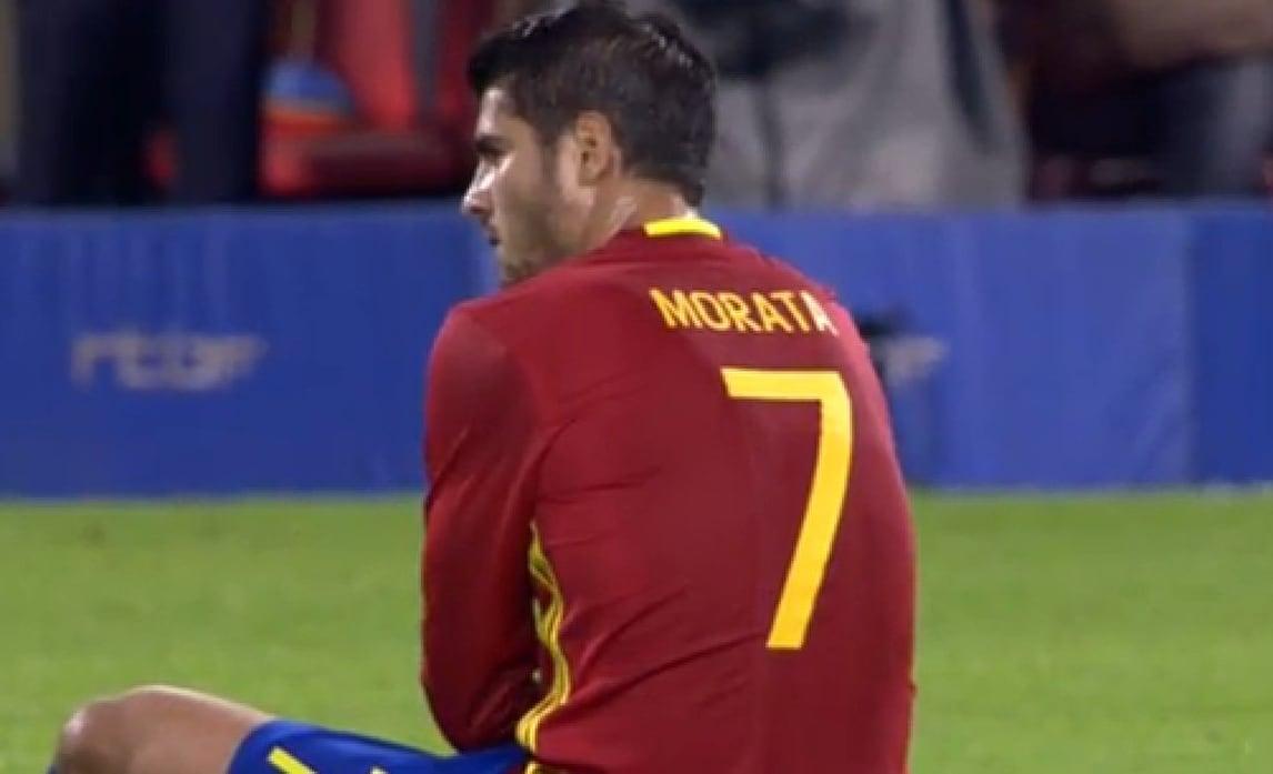 Spagna, 2-0 al Belgio ma Morata si fa male