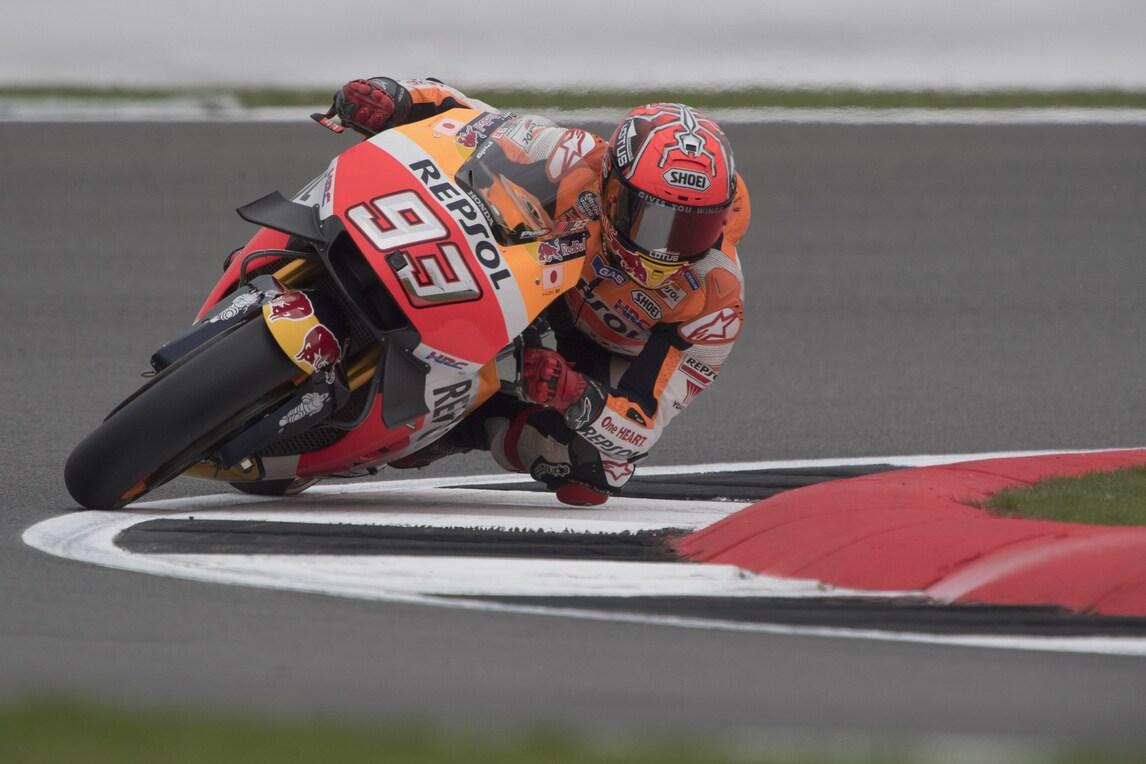 MotoGp Silverstone: a Marquez le terze libere, Rossi decimo