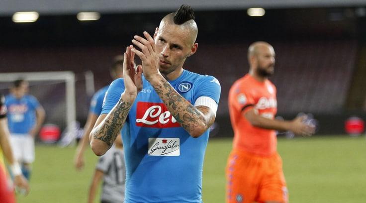 Serie A Napoli:Hamsik, vedi o'Marek com'è fedele