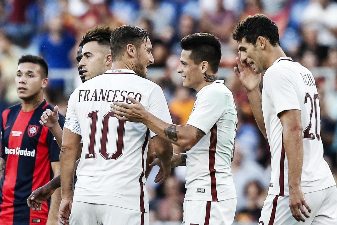 Roma, Totti:«La Juventus? Proveremo a restarle vicino»