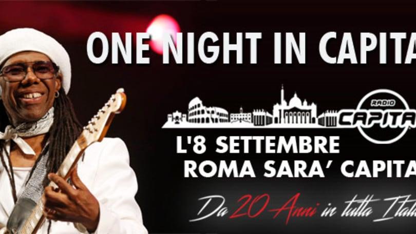 Nile Rodgers a Piazza del Popolo per Radio Capital