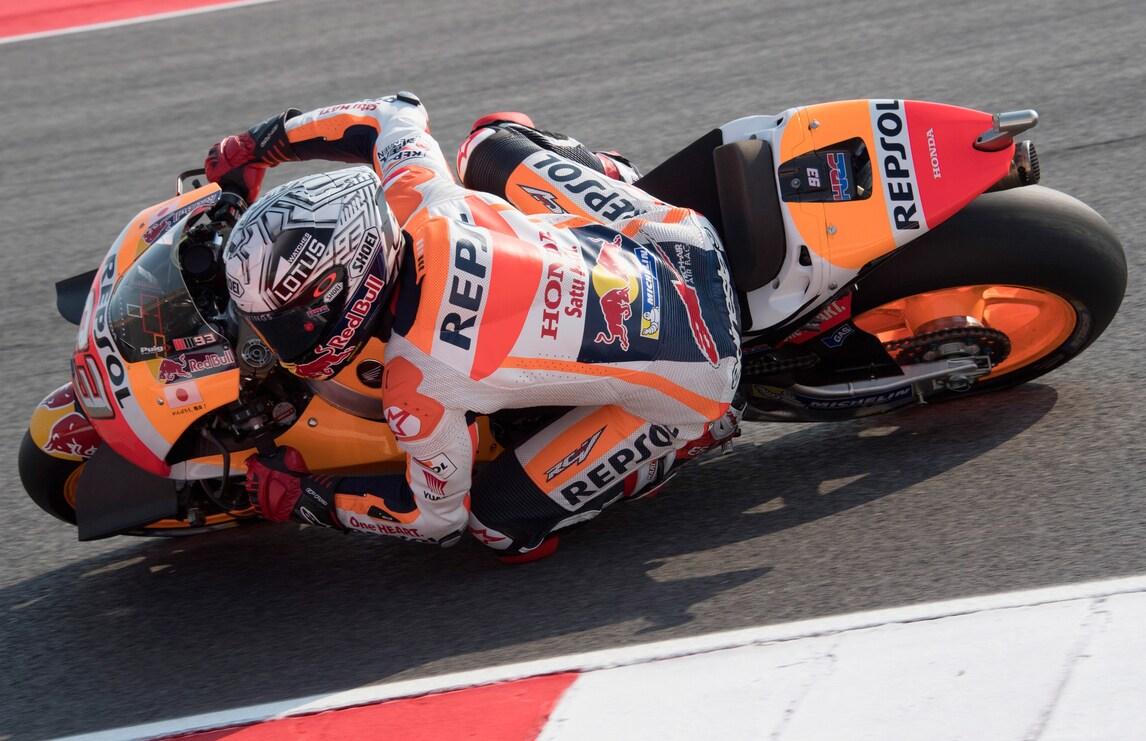 MotoGp, Misano: Marquez davanti nelle terze libere, Rossi 8°