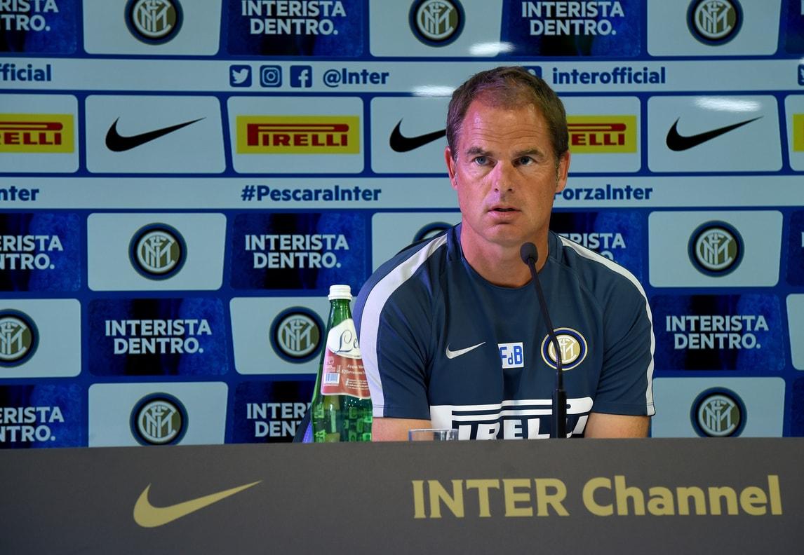 Frank De Boer: «L'Inter cresce, Joao Mario può giocare»