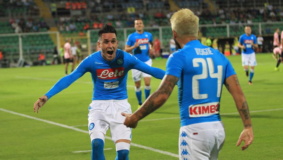 Serie A, Palermo-Napoli 0-3: super Callejon, Hamsik stacca Maradona