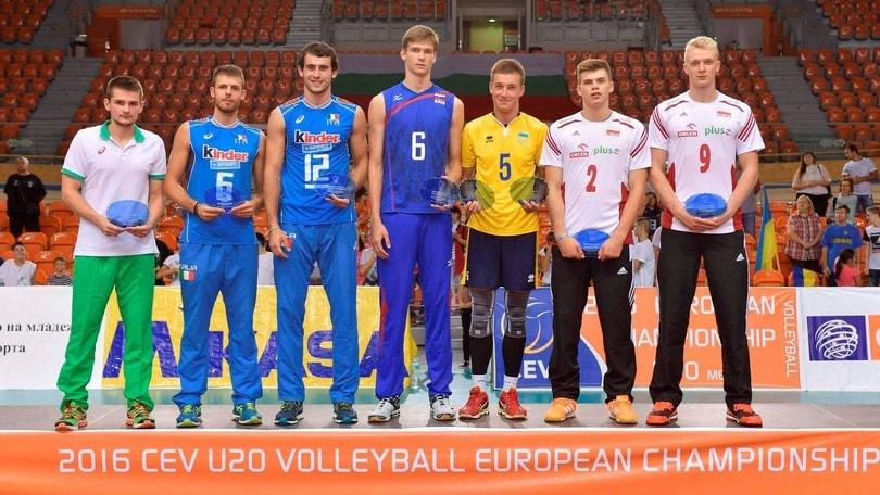 Volley: Europei U. 20, Sbertoli e Galassi nel