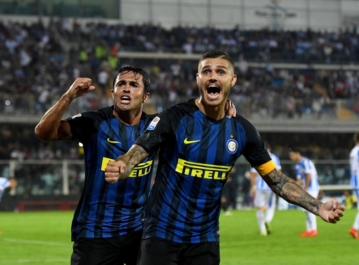 Serie A, Pescara-Inter 1-2. Bahebeck spaventa, risolve Icardi