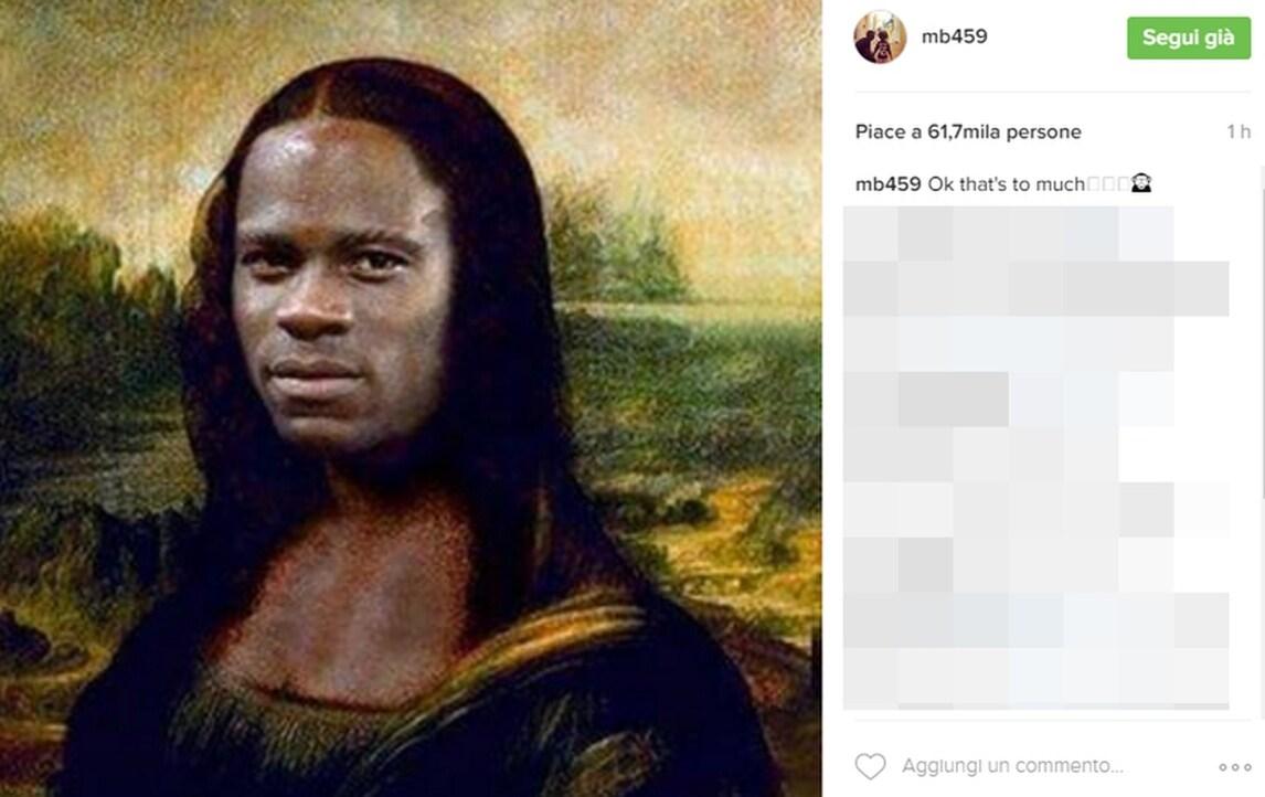 Nizza, Balotelli stupisce ancora: su Instagram è la nuova Gioconda