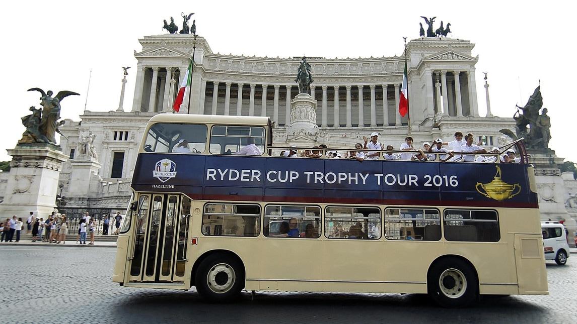 <p>Il trofeo in tour in Italia. Nel 2022 il torneo si giocherà a Guidonia</p>