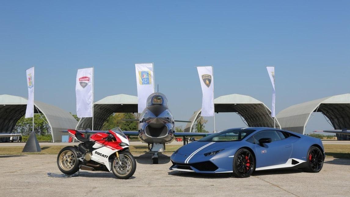 Lamborghini, Ducati e Frecce Tricolori: che show!