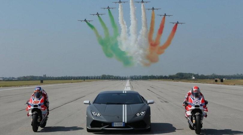 Lamborghini, Ducati e Frecce Tricolori: l'orgoglio della velocità