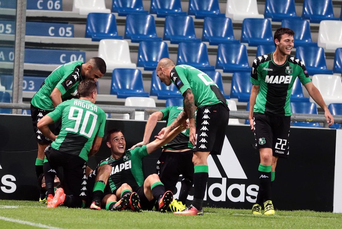 Europa League, Sassuolo-Athletic Bilbao 3-0: spettacolo neroverde con Lirola, Defrel e Politano