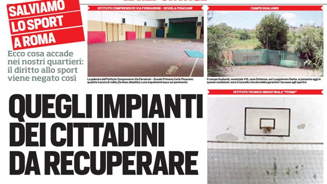Salviamo lo sport a Roma: gli impianti da recuperare