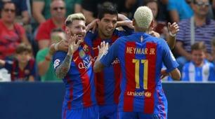 Il Barcellona si riscatta dopo l'Alaves: 5-1 al Leganes