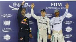 F1, Singapore:Rosberg davanti a tutti, Vettel parte ultimo