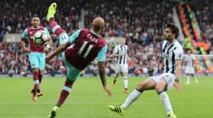 Premier League: Zaza fuori dopo 45 minuti, le immagini della sconfitta del West Ham