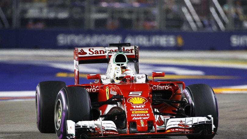 F1 Singapore, per Vettel nuovo motore e cambio