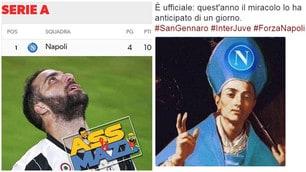 Juventus ko con l'Inter. E i tifosi del Napoli se la ridono sul web