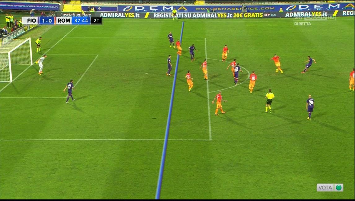 Fiorentina-Roma, Kalinic in fuorigioco sul gol di Badelj