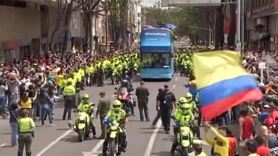 Colombia in festa per Quintana