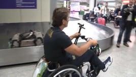 Paralimpiadi, il ritorno trionfale di Zanardi a Fiumicino