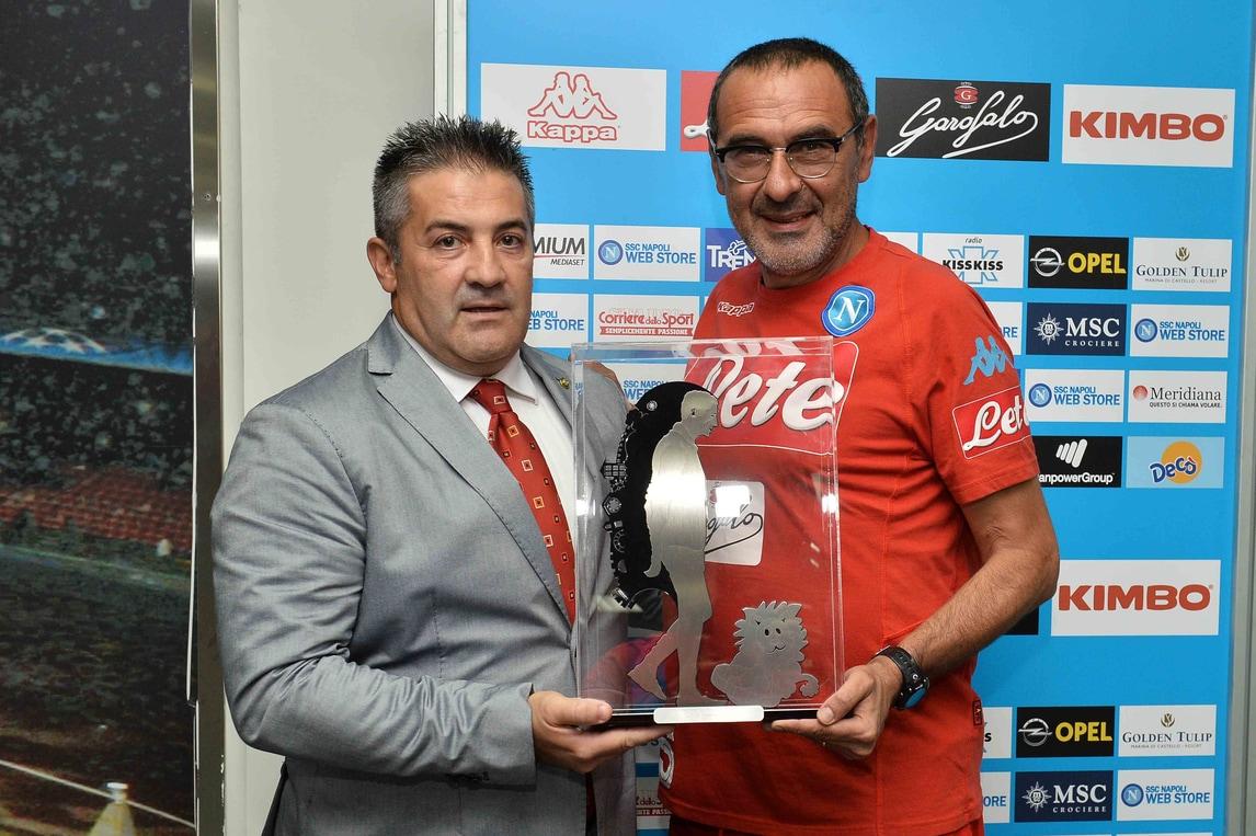 Scopigno Cup, premiati Sarri e Insigne