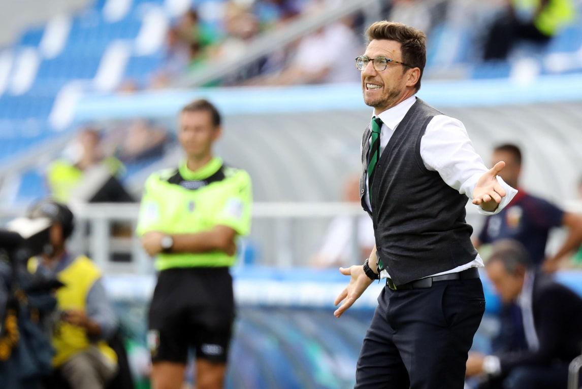 Serie A Sassuolo, Di Francesco: «Gioca Matri. Noi viviamo di entusiasmo»