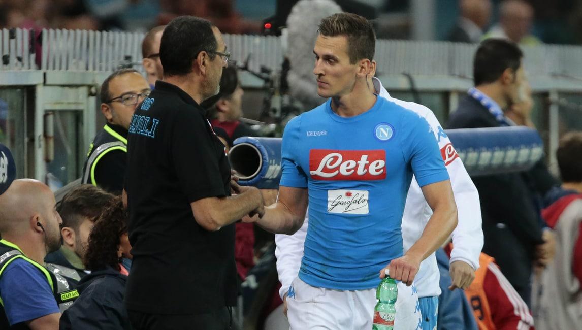 Napoli, Milik: «Sarri è fantastico, ho scelto questo club per lui»