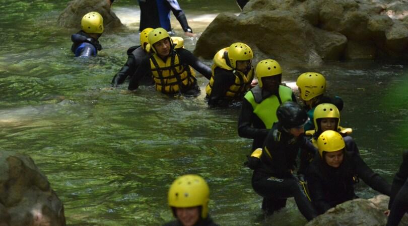 River Walking, camminare sul fiume alla cascata delle Marmore