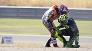 MotoGp, Aragon: Rossi, Marquez: che cadute nelle libere!