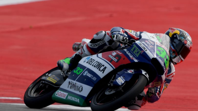 Moto3, Bastianini va in pole ad Aragon