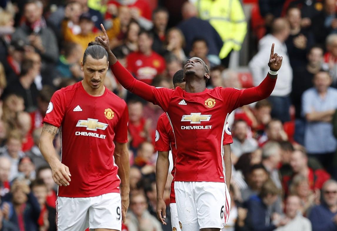 Poker United, Mou stende Ranieri. In gol anche Pogba