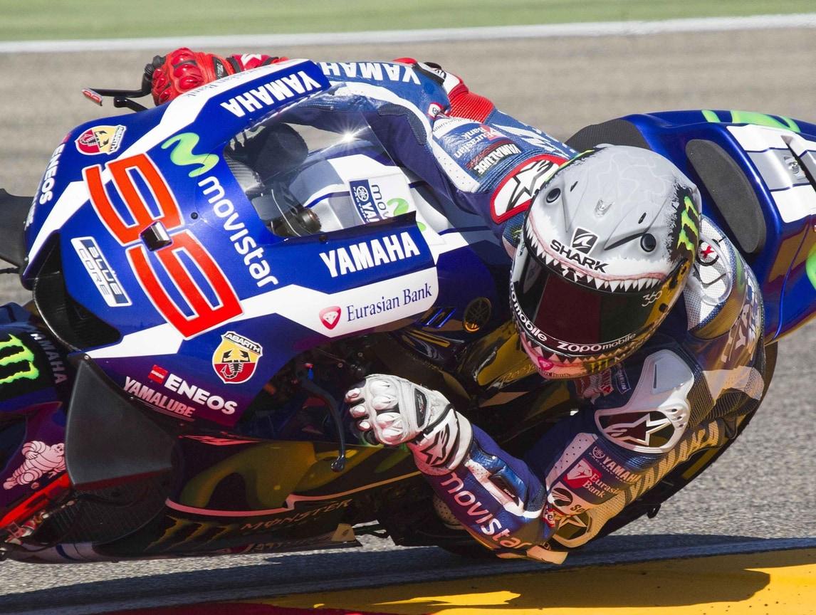 MotoGp Aragon, Lorenzo: «Prima fila ok, gara sarà difficile»