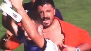 Pisa: Gattuso come Hulk, maglia strappata dopo la vittoria