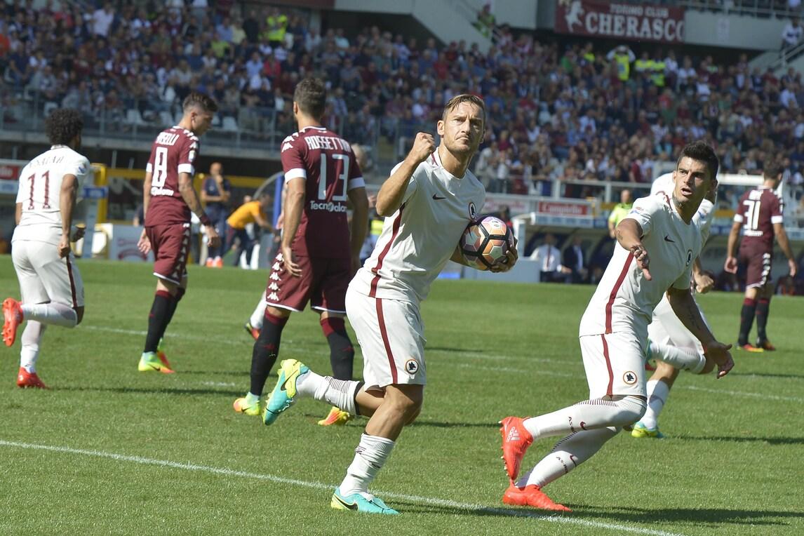 Torino-Roma 3-1: Totti non basta, giallorossi ko