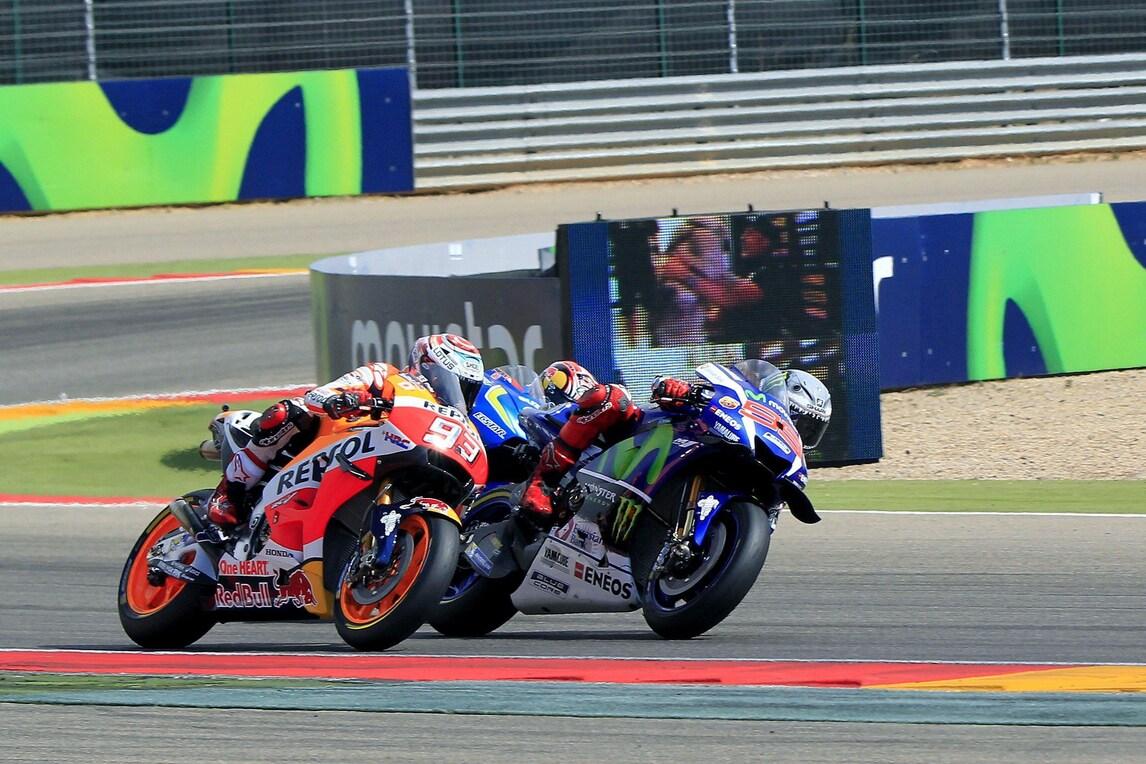 MotoGp Aragon, Lorenzo: «Fortunato per lo sbaglio di Rossi»