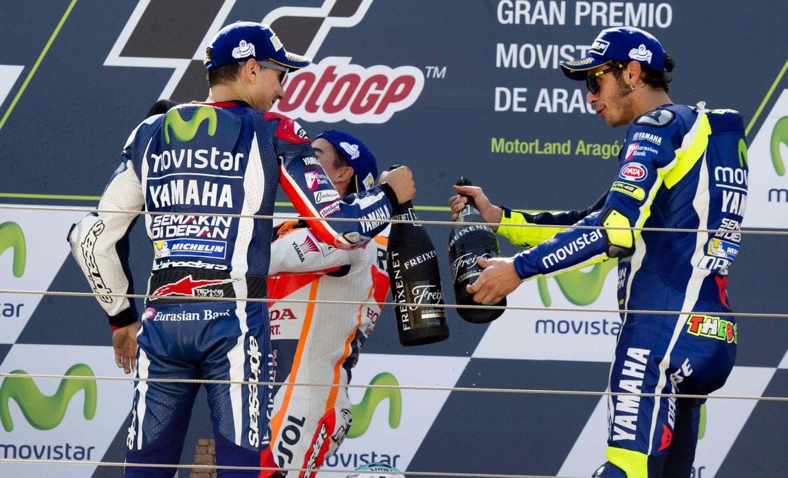 MotoGp Aragon, Rossi: «Peccato quella curva, ora rimbocchiamoci le maniche»