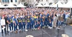 Volley: A1 Femminile, bagno di folla in piazza per le Campionesse d'Italia