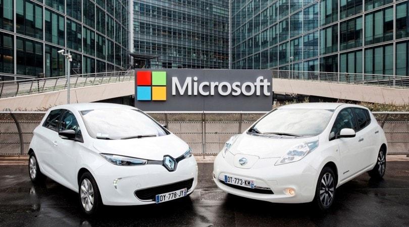 Renault e Nissan si alleano con Microsoft per l'auto connessa del 2020