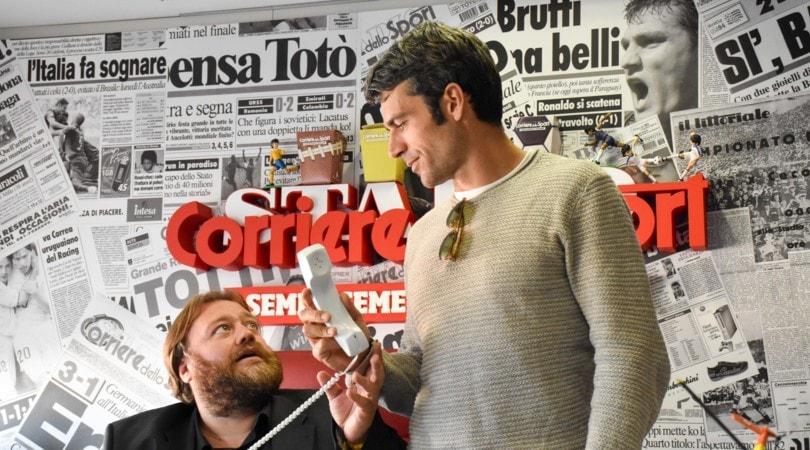 Al posto tuo, gag e risate con Luca Argentero e Stefano Fresi ospiti al Corriere dello Sport